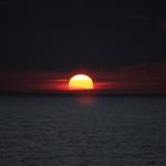 Закат с полянки перед Серф Кэмпом, Доминикана
