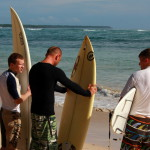 Серфинг - инструктаж перед заходом в воду